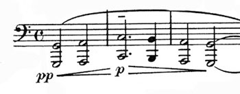 Six-note motif in the Sacred Service