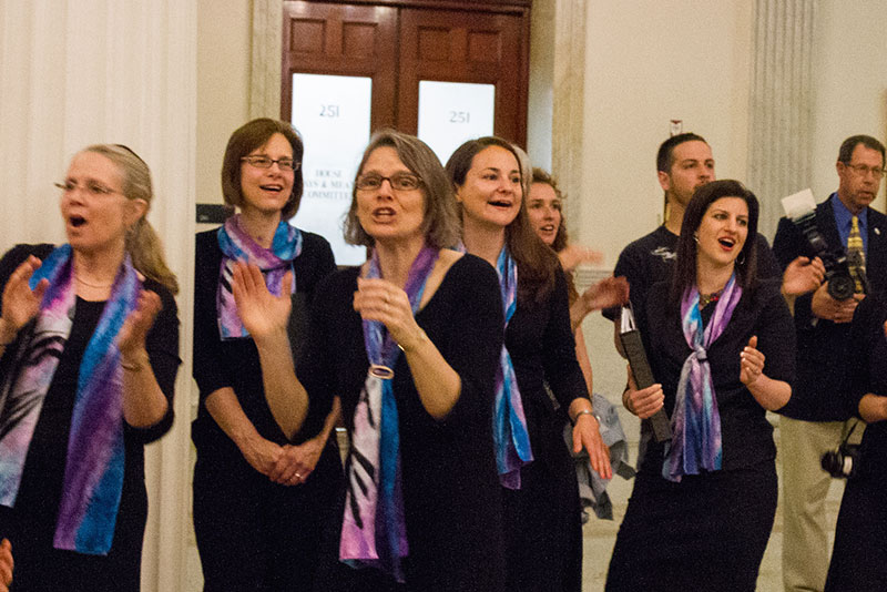 Sopranos Singing at the MA State House - 061815