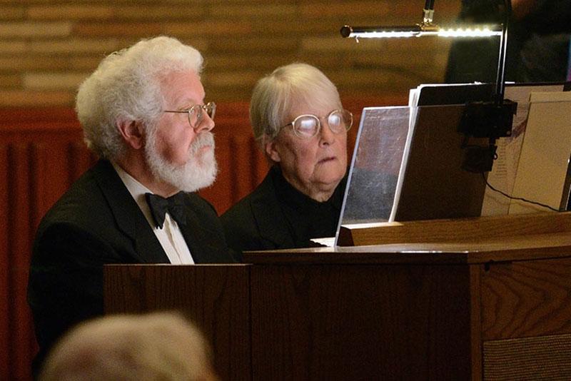 Ed Swanborn, organist, and Nancy Swanborn