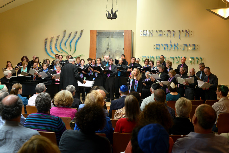 Congregation Beth Elohim, choir and audience