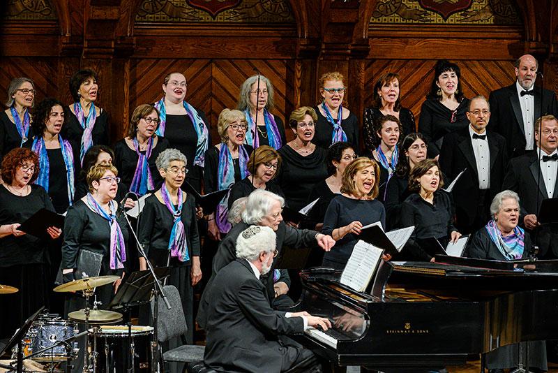 Chorus with alumni
